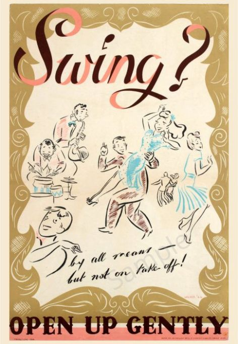 Wartime Swing Dance Advertising Poster